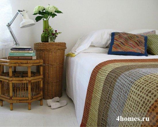 Интерьеры с плетеной мебелью: современная экзотика