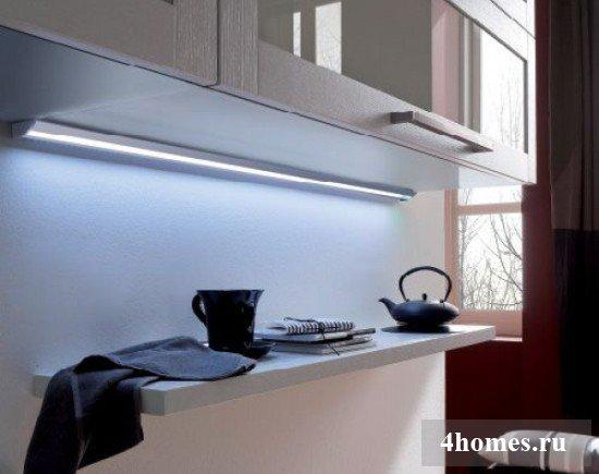 люминисцентные лампы для освещения рабочей поверхности на кухйне