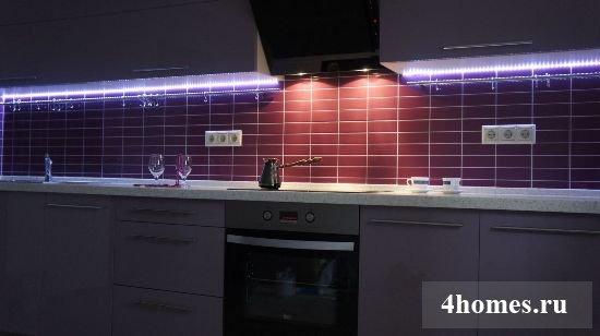 светодиодная лента для подсветки рабочей поверхности