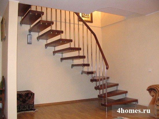 межэтажная лестница на больцах