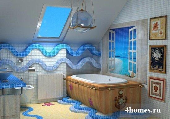 Отделка ванной комнаты плиткой: фото дизайна разных вариантов