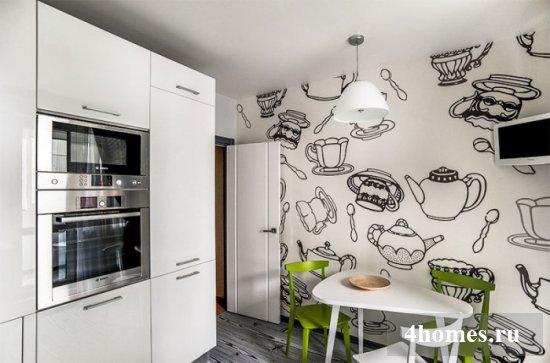 Современные идеи обоев для кухни: фото 2017 года