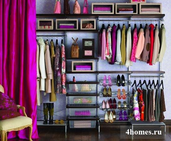 Гардеробные комнаты - дизайн-проекты: фото интересных решений