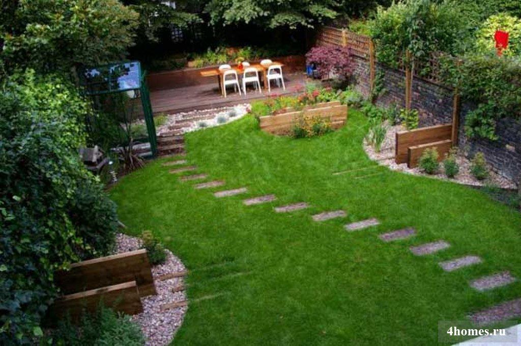 Ландшафтный дизайн загородного дома 6 соток — 55 фото…