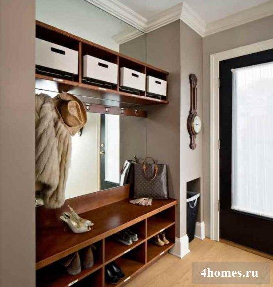 Интерьер в прихожей в маленькой квартире