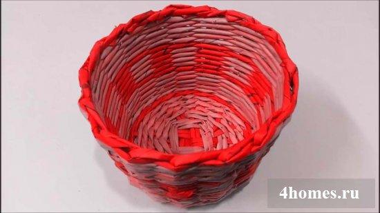 1489837172_12 Плетение корзин из газетных трубочек