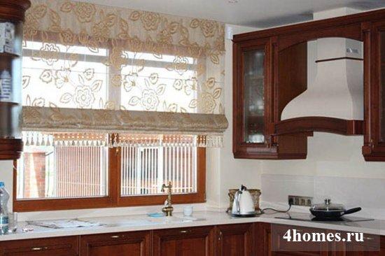 Новинки в дизайне кухонных штор в 2017 году