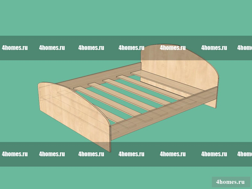 Кровать из дерева чертежи и схемы сборки 62