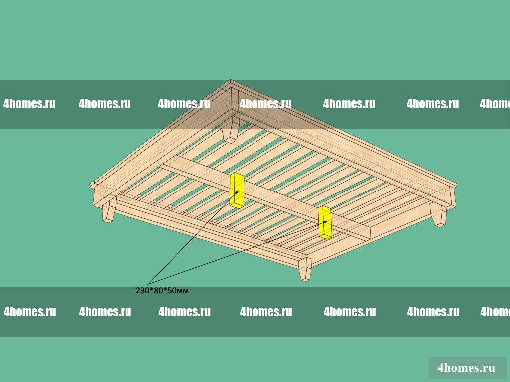 Кровать из дерева чертежи и схемы сборки 15