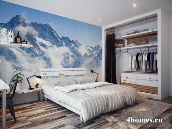 Обои для спальни в интерьере: фото