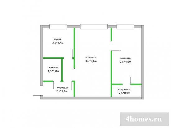 перепланировка хрущевки 2 комнаты смежные варианты фото