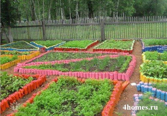 поделки из пластиковых бутылок своими руками для огорода как делать