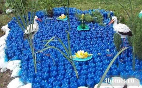 поделки из пластиковых бутылок для сада и огорода фото и описание