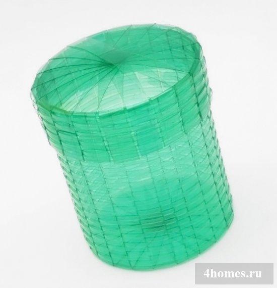 Как из пластиковых бутылок плести корзины