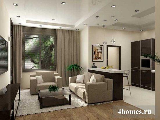 Современное жильё для маленькой семьи – квартира студия. Фото, интерьер и планировка
