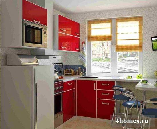 Кухня 6 кв.м. в хрущевке, фото до и после ремонта