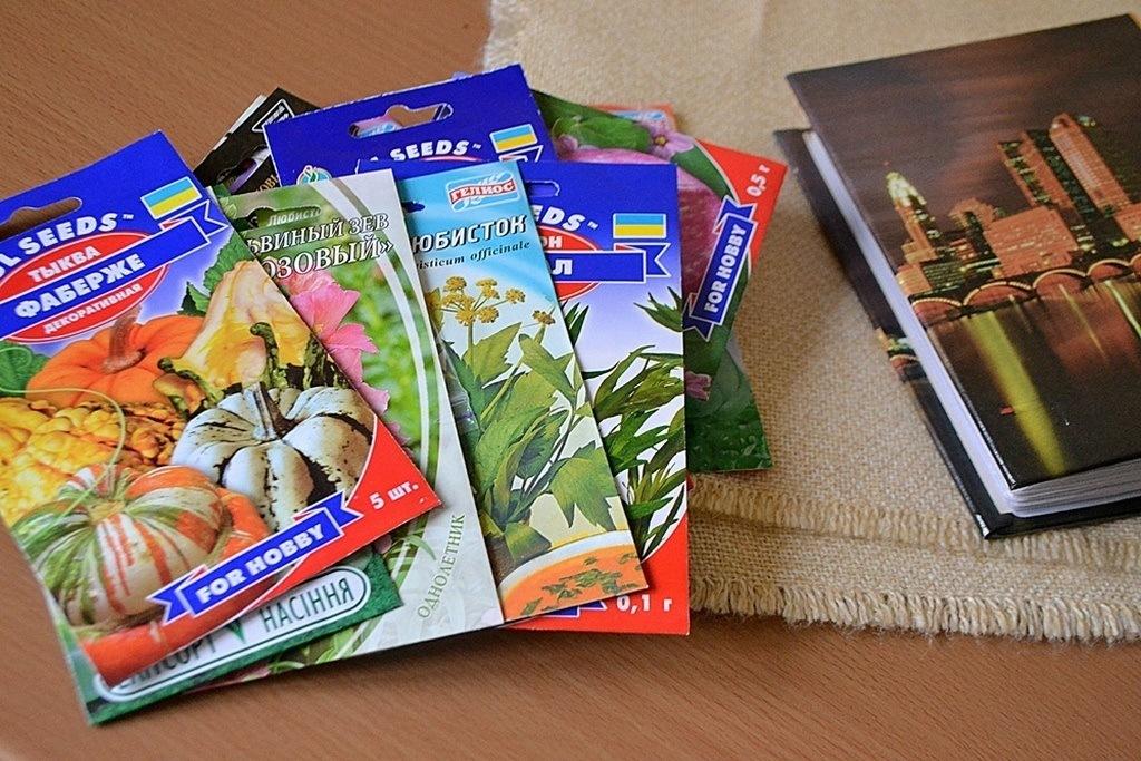 Семена овощей и цветов и фото альбом