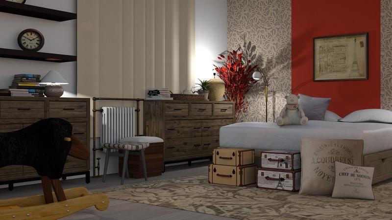 Спальня с сувенирами